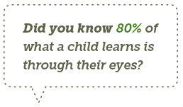 Did   you know 1 in 4 children has an undiagnosed vision   issue?